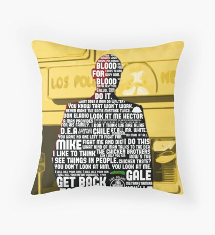 Gus Fring Quotes Throw Pillow