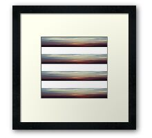 Sky Stripes Framed Print