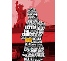 Saul Goodman Quotes Photographic Print