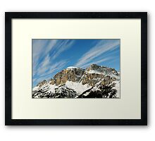 Mountain winter Landscape with blue sky and light clouds Framed Print
