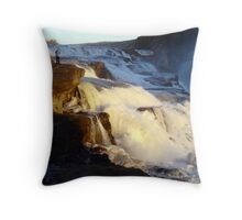 The Mighty Gullfoss, Iceland Throw Pillow