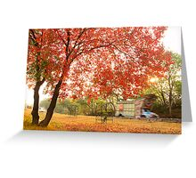 Autumn Rush Greeting Card