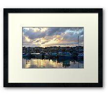Sunset at Marsaxlokk Framed Print