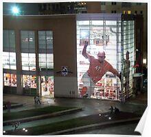 MLB Cincinnati Reds Baseball Stadium/Museum at Night Photo Poster