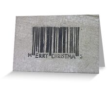 Merry Christmas Barcode (stencil graffiti) Greeting Card