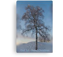 God Jul = Merry Christmas Canvas Print