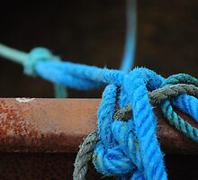 Blue ropes by Karin  Funke