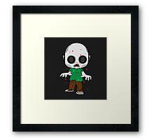 Zombie Kid Framed Print