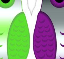 Agender Ace Pride Owls Sticker
