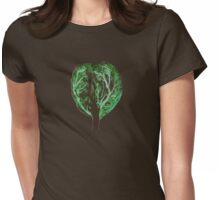 Green Tree of Life Womens Fitted T-Shirt