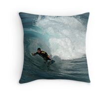 Riding On The Crest Of A Wave Throw Pillow