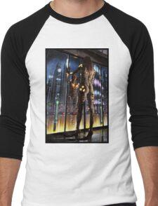 Cyberpunk Painting 064 Men's Baseball ¾ T-Shirt