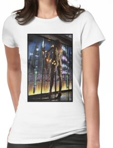 Cyberpunk Painting 064 Womens Fitted T-Shirt