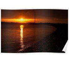 West Mersea sunset, Essex Poster