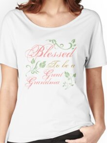 Blessed To Be A Great Grandma Women's Relaxed Fit T-Shirt