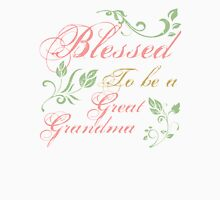 Blessed To Be A Great Grandma Womens Fitted T-Shirt