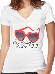 Twenty two Women's Fitted V-Neck T-Shirt