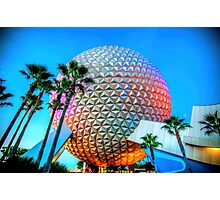 Spaceship Earth at Dusk Photographic Print