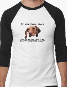 Velcro Vizsla Men's Baseball ¾ T-Shirt