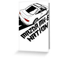 Mazda MX-6 (Birds Eye, 3/4 view) Greeting Card