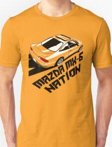 Mazda MX-6 (Birds Eye, 3/4 view) Unisex T-Shirt