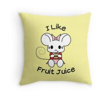 I Like Fruit Juice -- Cherry Red Throw Pillow