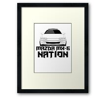 Mazda MX-6 Nation  (Front View) Framed Print
