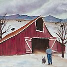 Winter Barn by Barbara Applegate