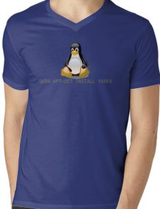 Linux - Get Install Vodka Mens V-Neck T-Shirt