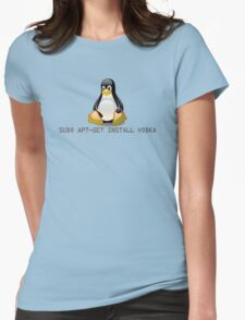 Linux - Get Install Vodka Womens Fitted T-Shirt