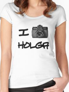 I Love Holga Women's Fitted Scoop T-Shirt