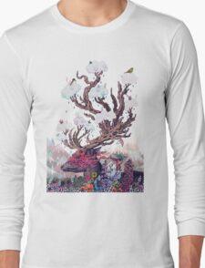 Journeying Spirit (deer) Long Sleeve T-Shirt
