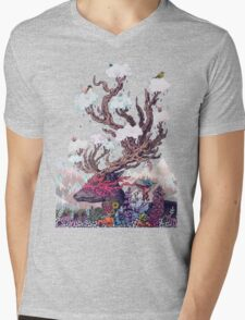 Journeying Spirit (deer) Mens V-Neck T-Shirt