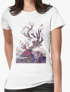 Journeying Spirit (deer) Womens Fitted T-Shirt