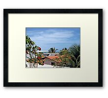 Waking up in Paradise  Framed Print