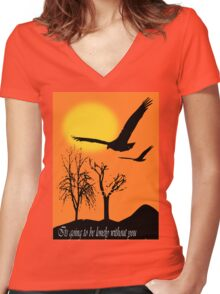 At Sun Set (5548 Views) Women's Fitted V-Neck T-Shirt