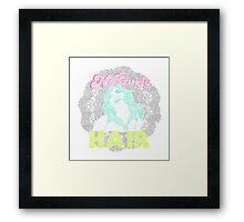 No curly hair club Framed Print