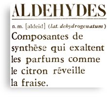 Aldehydes French Words Canvas Print