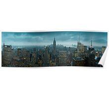 The Apple at night - Manhattan Poster