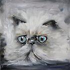 Cats, a portrait №1 by kremlyakov