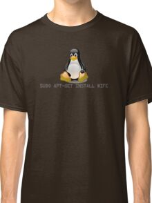 Linux - Get Install Wife Classic T-Shirt