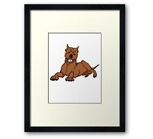 Pit Bull - Red Framed Print