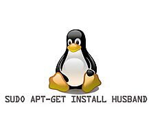 Linux - Get Install Husband Photographic Print