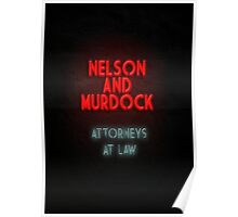 Nelson and Murdock ATTORNEYS AT LAW Poster
