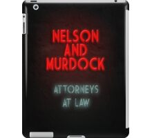 Nelson and Murdock ATTORNEYS AT LAW iPad Case/Skin