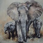 A Family of Elephants by Jen  Manning
