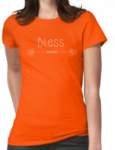 Bless - On Black  Womens Fitted T-Shirt