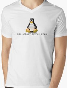 Linux - Get Install Linux Mens V-Neck T-Shirt