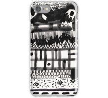 Black and White Abstraction iPhone Case/Skin