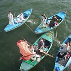 Boat vendors on the Nile by Jamie Alexander